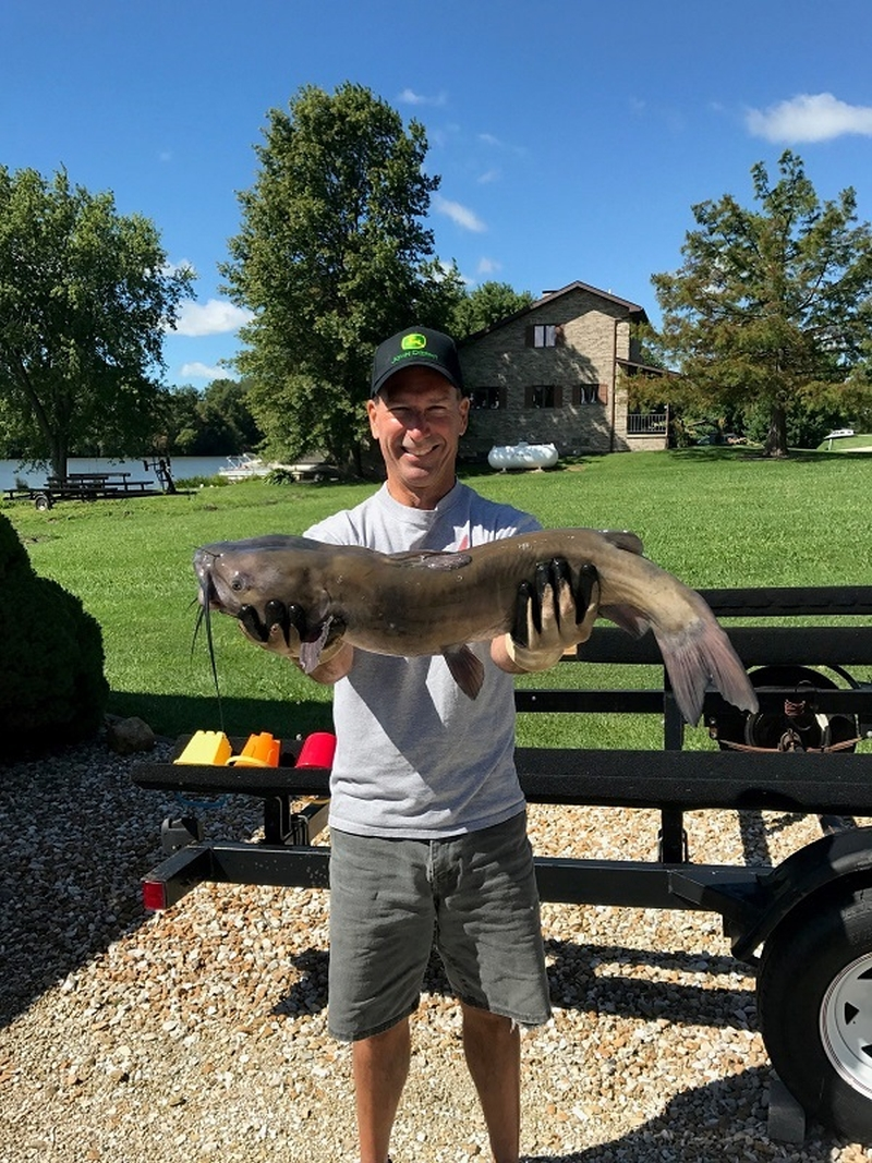 Terry Cook caught 9.6 lb catfish